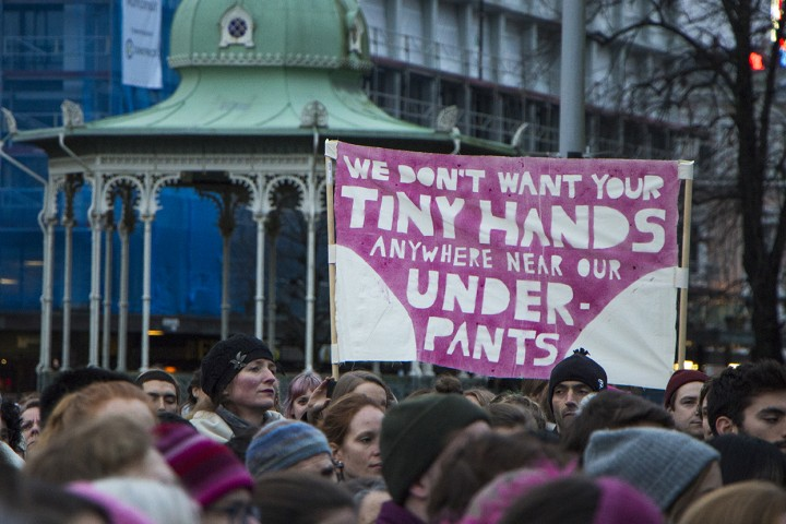 Women's March Bergen attracts students