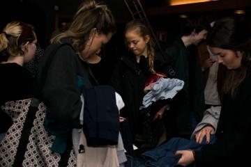Studenter strømmet til for å skaffe seg ny garderobe