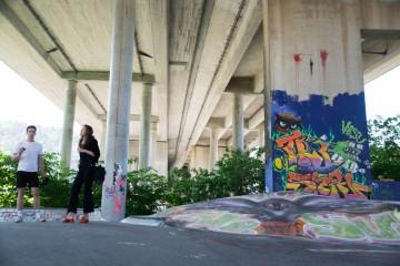 Studenter arrangerer festival under Puddefjordsbroen