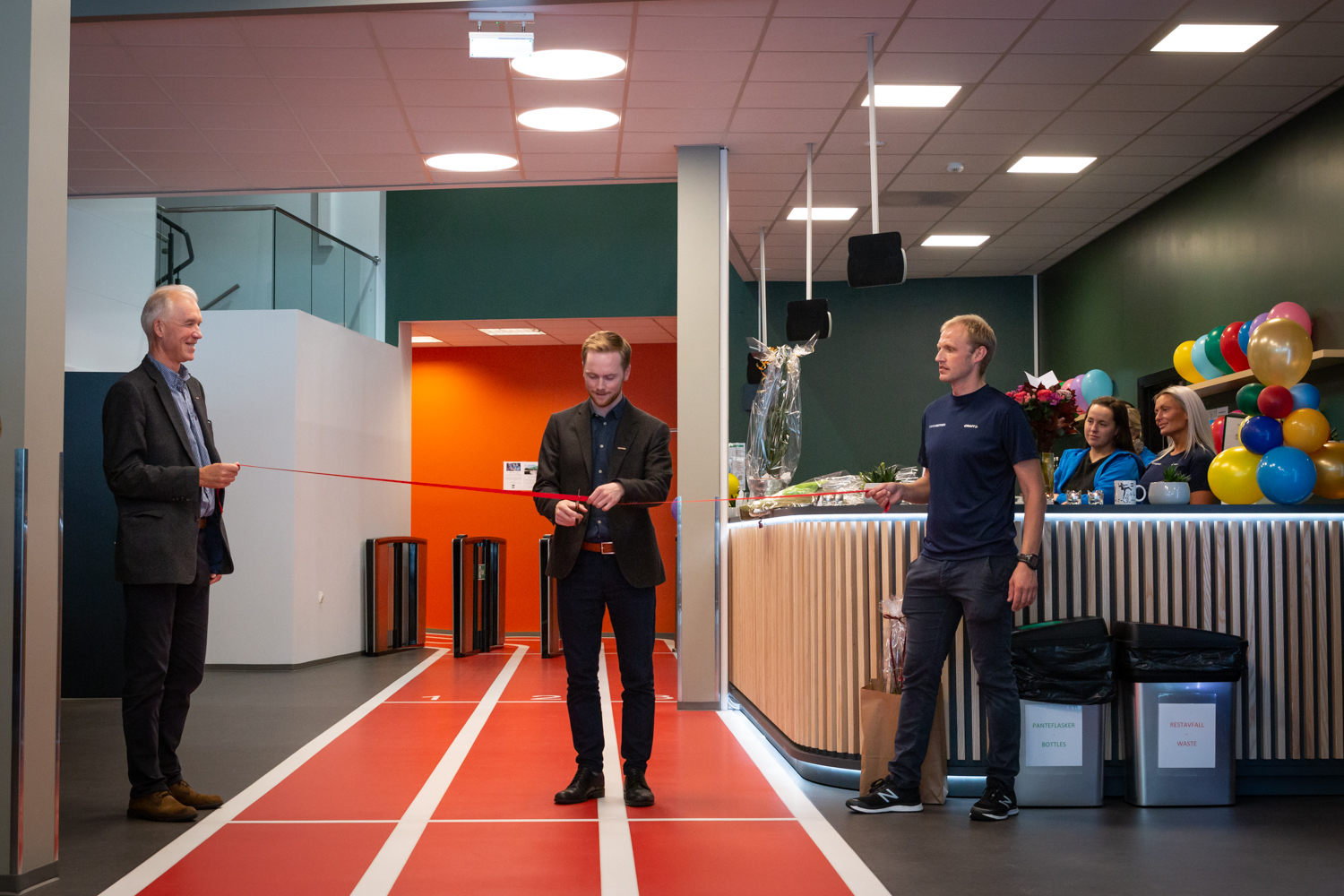 OFFICIAL OPENING. The Fantoft training center was opened after a 6 months renovation.