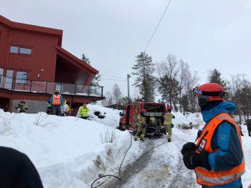 Brannutrykning til Sammen-hytta