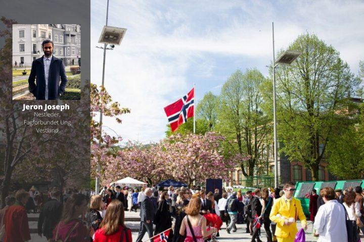 Det er Norge i rødt, hvitt og blått