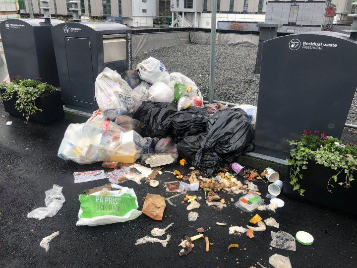 Slik så det ut med Sammen sin nye avfallsordning