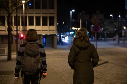 While one student holds tight on to her keys, another one was given a rape alarm for defense