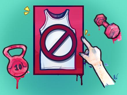 Forsvinner kroppspresset på trening med en T-skjorte?